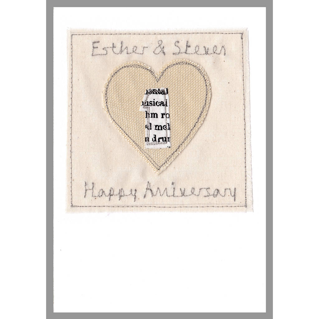 personalised 1st wedding anniversary card by milly and pip ...