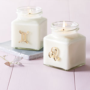 Zodiac Sign Candle - stocking fillers
