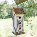 Pine View Personalised Distressed Tall Bird House