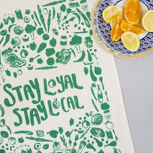 Stay Local Tea Towel - kitchen