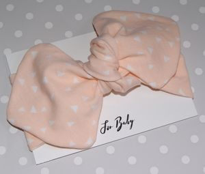 Pale Pink Baby Headband With Triangle Print