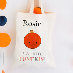 Personalised Trick Or Treat Bag 'Pumpkin' - trick or treat bags