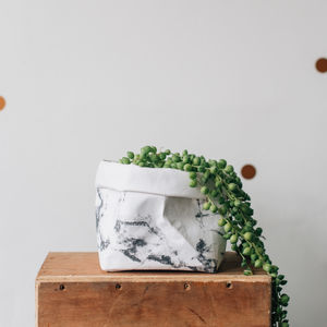 Marble Pattern Washable Paper Plant Bag - gifts for her
