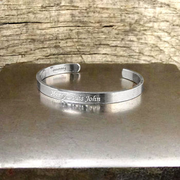 Personalised Child's Silver Bracelet