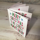 Personalised Mummy And/Or Daddy Christmas Book Card