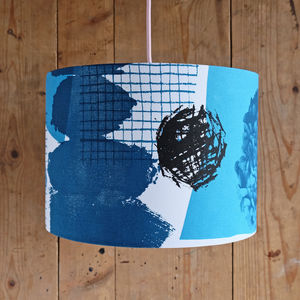 Llech Hand Printed Lampshade - dining room