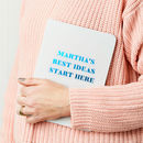 Personalised Your Best Ideas Foiled Notebook