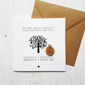 Apple Doesn't Fall Far Gold Foil Mother's Day Card - mother's day cards