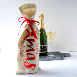 Personalised Christmas Bottle Bag