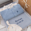 Baby Boy Cool Blue And Grey Luxury Gift Box