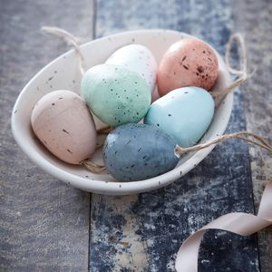 Speckled Easter Egg Decorations - decorative accessories