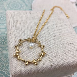 Sally Freshwater Pearl Circle Necklace - necklaces & pendants