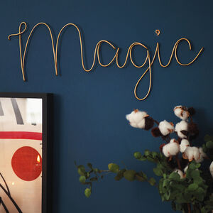 'Magic' Wire Wall Sign