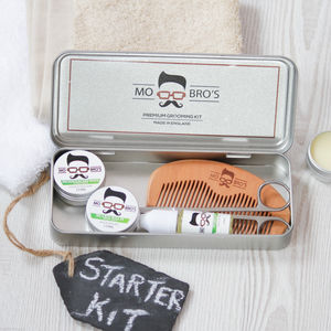 Men's Six Piece Beard Grooming Set Sweet Mint - men's grooming & toiletries