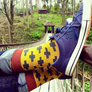 Men's Crosses Print Socks