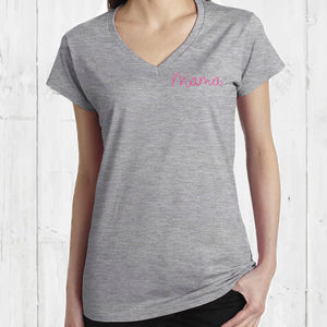 Embroidered Mama Ladies T Shirt