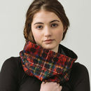 Tartan And Lace Snood