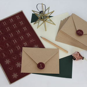 Advent Envelopes And Stickers Set - advent calendars