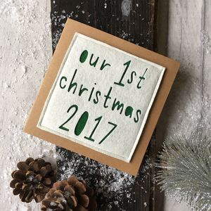 'Our First Christmas 2017' Card