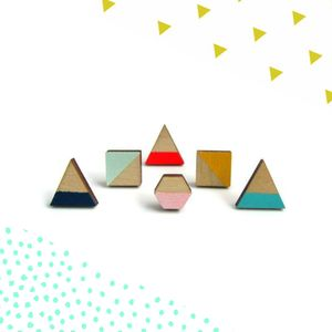 Contemporary Geometric Earrings - earrings