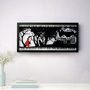 Red Riding Hood's Folly Papercut