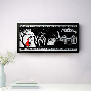 Red Riding Hood's Folly Fairytale Papercut Art - nature & landscape