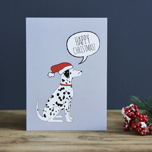 Pack Of Six Dalmatian Christmas Cards