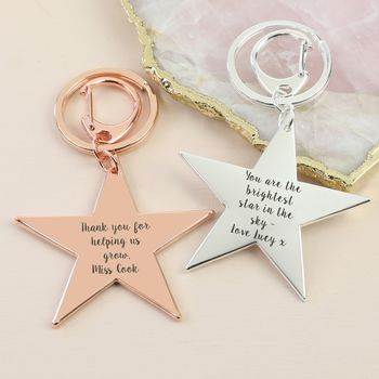 Personalised Shiny Star Keyring