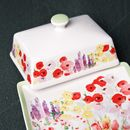 Painted Garden Butter Dish