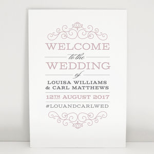Eva Wedding Welcome Sign
