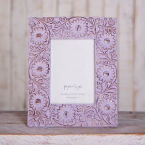 Antique Lilac Flower Photo Frame
