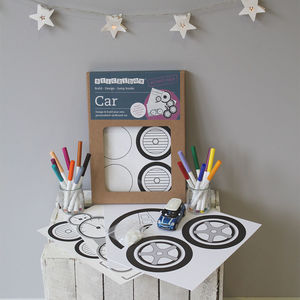 Personalised Cardboard Box Car Craft Kit