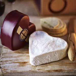 Heart Shaped Brie And Cheddar Gift Box - best wedding gifts