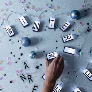 20 White Letter Lightbox Fairy Lights