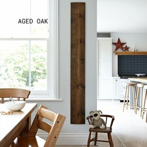 Personalised Wooden Ruler Height Chart In Aged Oak - baby's room