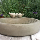 Personalised Concrete Bird Bath