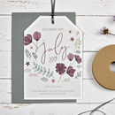 Personalised Marsala Floral Save The Date