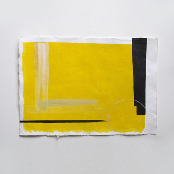 Original Yellow Abstract Acrylic Painting 'Yellows I'