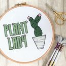 Plant Lady Cross Stitch Kit