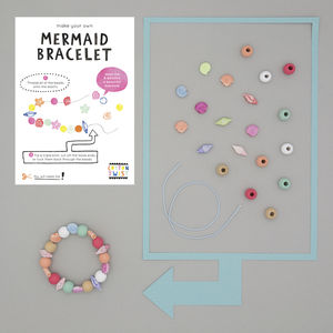 Make Your Own Mermaid Bracelet Kit - for children