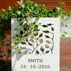 Personalised Contemporary Flower Planter - gardener