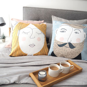 Personalised Face Cushion Cover - gifts for couples