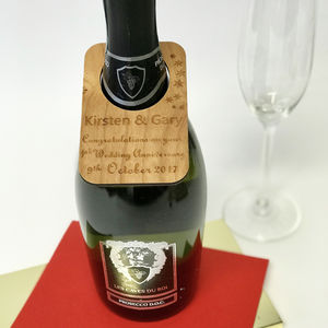 Personalised Wedding Anniversary Wine Bottle Label
