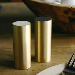 Brass Salt And Pepper Pot Set - tableware