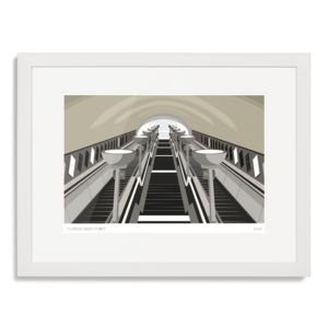 Clapham South Stairs Art Print - limited edition art