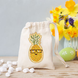 Pineapple Bag With Chocolate Eggs