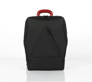 Barbican Black Unisex Leather Backpack - mens