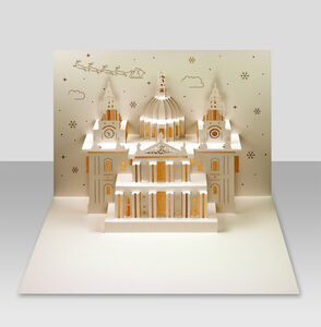 St Paul's Cathedral Pop Up Christmas Card