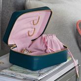 Personalised Luxury Soft Leather Jewellery Case - accessories