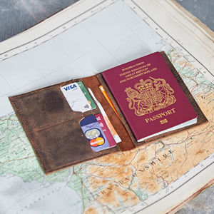 Handmade Buffalo Leather Passport Holder